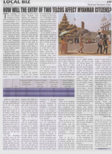 This article was published in the Myanmar Business Today journal