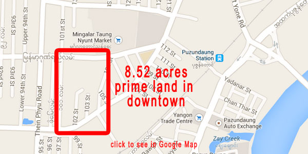 Invitation for Tender Yangon City Development Committee Commercial Complex Project, Yangon, Myanmar. Location - Bominyaung Road and Myanma Gonyi Road, Mingala Taung Nyunt Township, Yangon Region. Land Area – 8.518 Acres