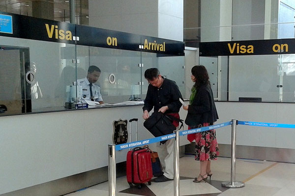 Business visa visa on arrival consult myanmar business visa on arrival booth at yangon airport stopboris Images